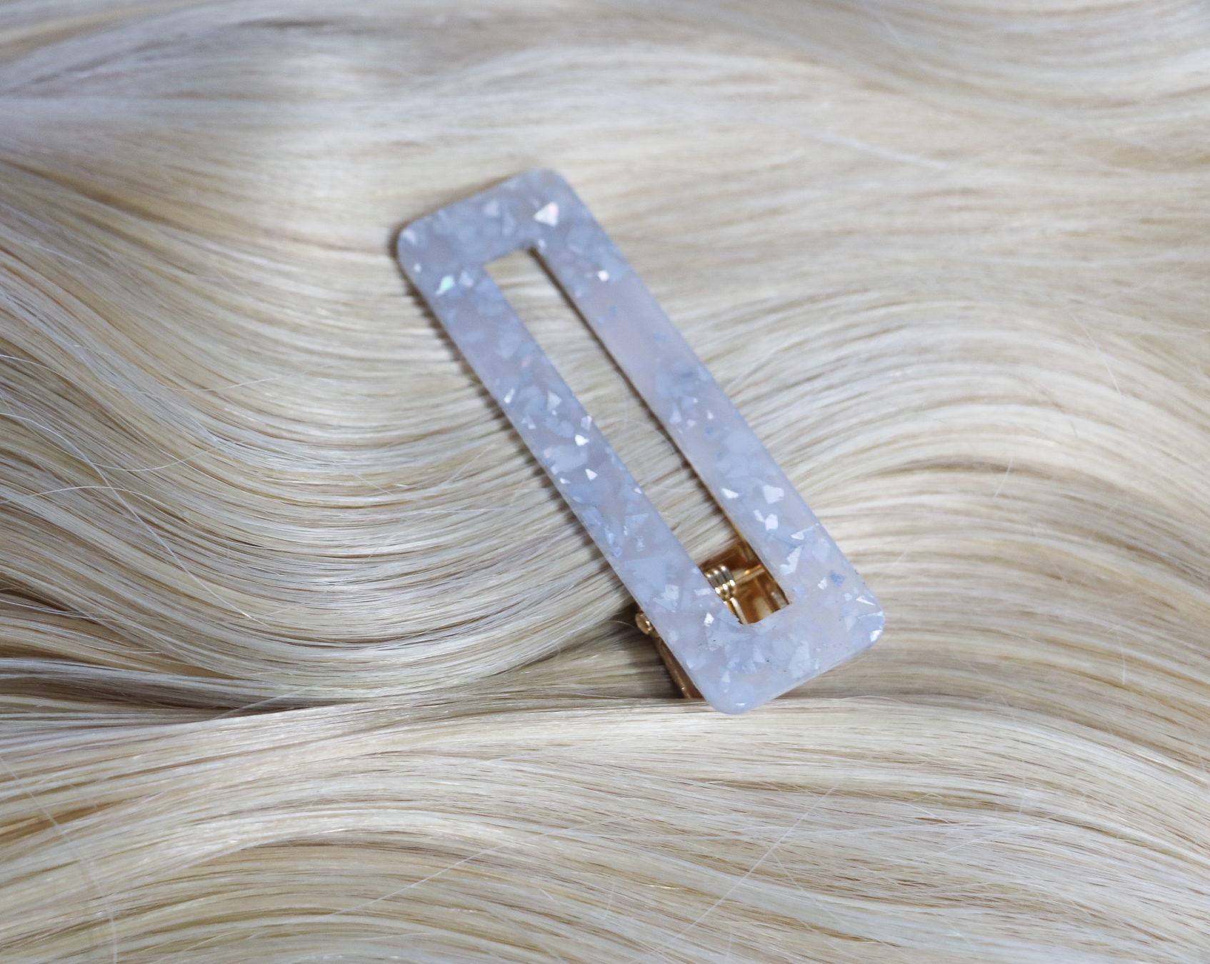 White Quartz Look Hair Clip hair accessory